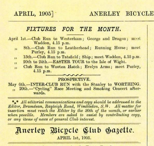 Rides 1905