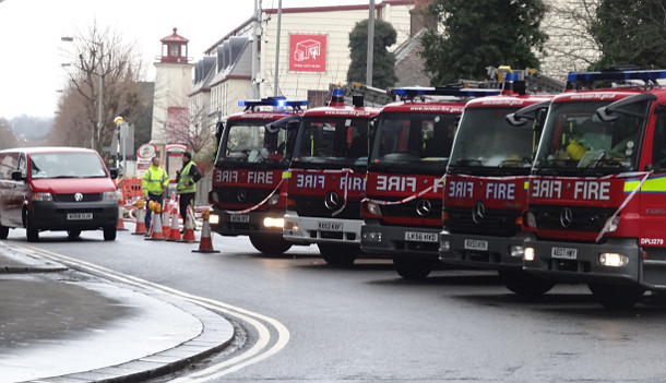 Fire Engine Alley, A23, South Croydon