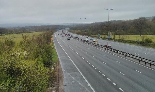 M25 in Surrey