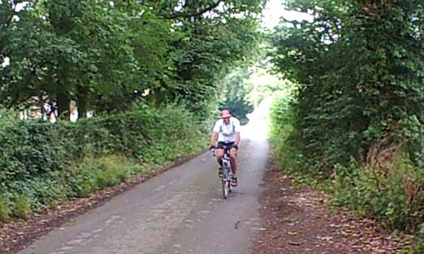 Stuart on bike