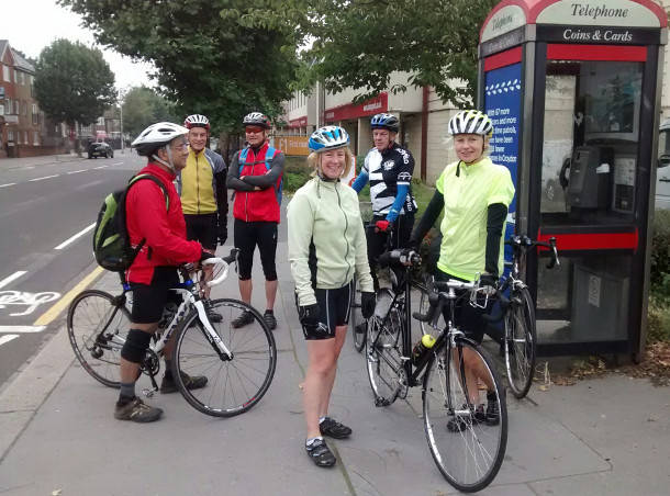Anerley Bicycle Club and a telephone box