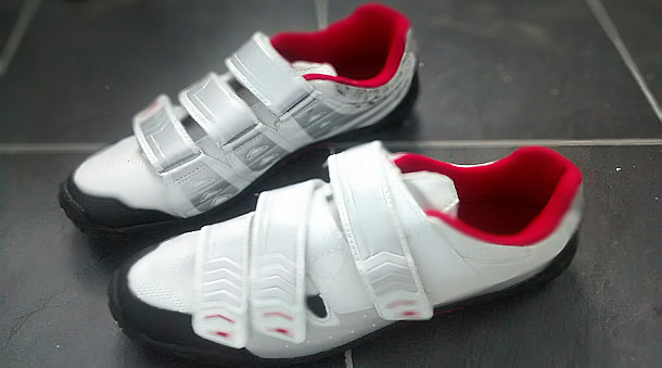 Stuart's cycling shoes