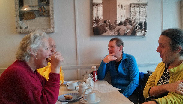 anerley BC at the Tudor Rose Cafe, Westerham, Kent