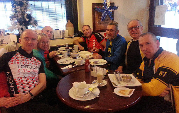 Anerley BC at the Star cafe, East Grinstead