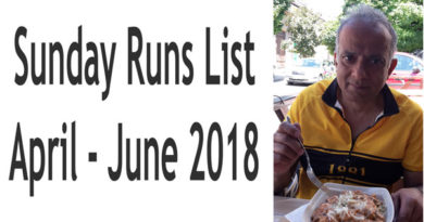 Runs List: Sundays April to June 2018